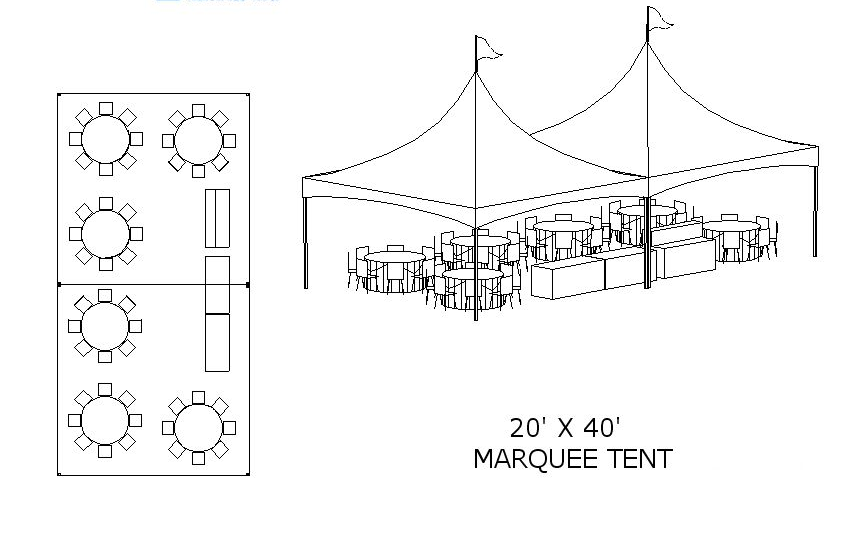 20u0027 x 60u0027 S&le Layout  sc 1 st  Hemet Party Rental & Hemet Party Rental - TENT LAYOUT IDEAS